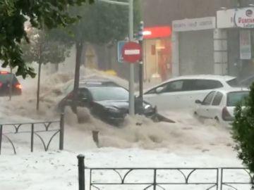 Graves inundaciones en el municipio madrileño de Arganda del Rey a causa del temporal