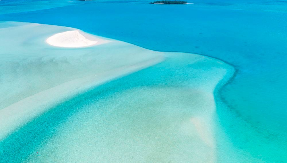 Aguas prístinas en Aitutaki