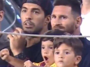 Mateo Messi, celebrando el gol del Betis