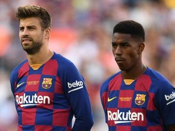 Junior Firpo, con el FC Barcelona