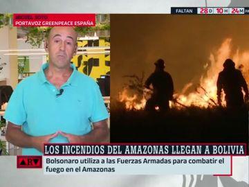 """Bolsonaro culpa a las ONG de los incendios en la Amazonía y Greenpeace responde: """"Él es el problema"""""""