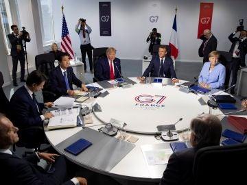 Reunión de los líderes de los países del G-7 durante la cumbre en Biarritz