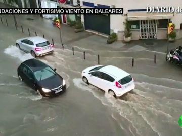 La gota fría se ceba con Baleares: caen 100 litros por metro cuadrado con unas rachas de viento de 150 kilómetros por hora
