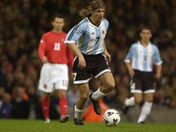 Claudio Caniggia, con la selección argentina