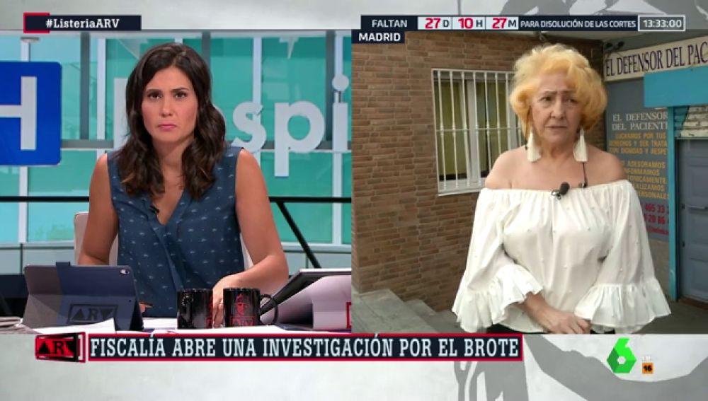 """Carmen Flores, presidenta del Defensor del Paciente, sobre la listeriosis: """"La gestión de la Junta ha sido nefasta"""""""