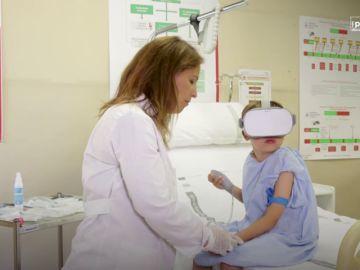 La Realidad Virtual asociada a un visualizador de venas ayudaría en el tratamiento de pacientes pediátricos