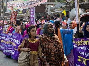 Celebración del Día Internacional de la Mujer en Bangladesh