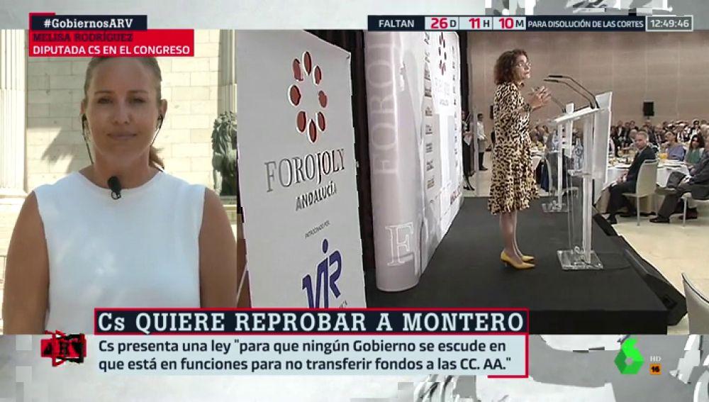 Ciudadanos pedirá la reprobación de la ministra Montero