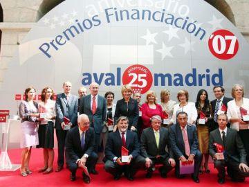 Esperanza Aguirre en los premios Avalmadrid de 2007