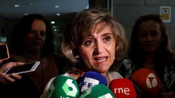 La ministra de Sanidad en funciones, María Luisa Carcedo