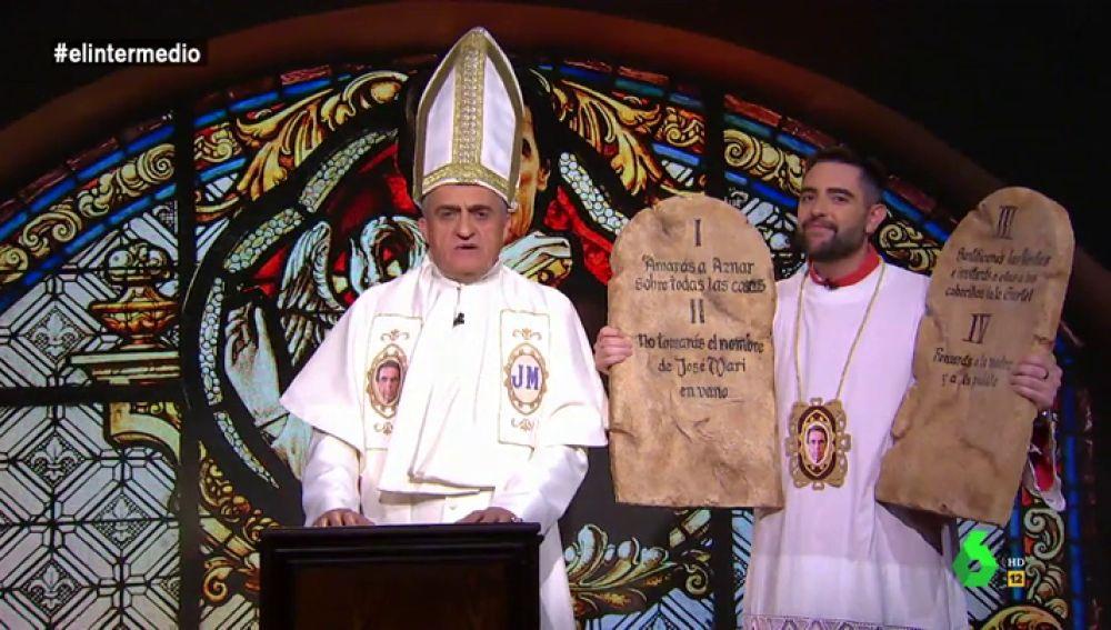 Recordamos los mandamientos de la 'Iglesia Aznariana' en El Intermedio