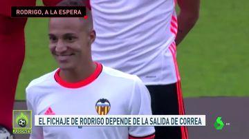 Rodrigo, bloqueado por Correa
