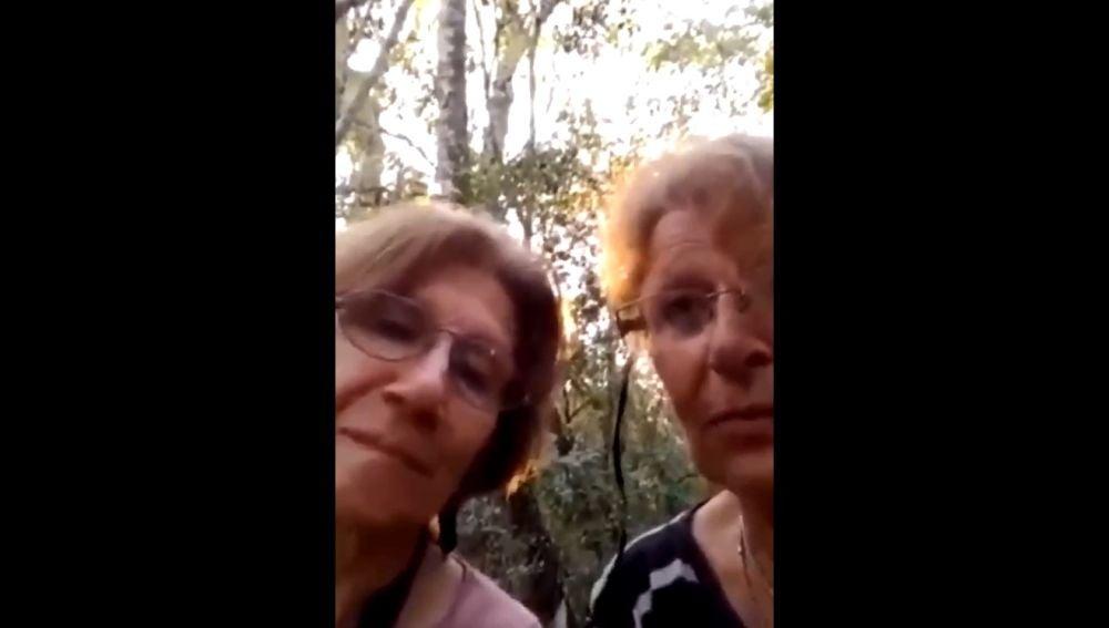 Dos sexagenarias perdidas en la selva