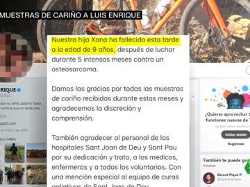 Muere Xana, la hija pequeña de Luis Enrique a los nueve años por un osteosarcoma