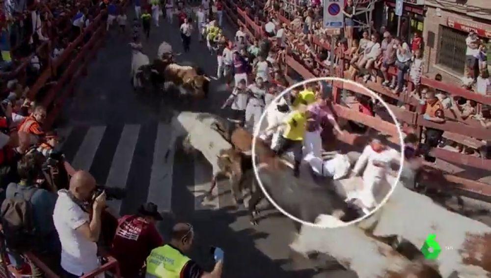 Diez heridos en el cuarto encierro de las fiestas de San Sebastián de los Reyes