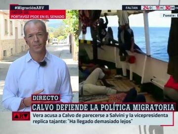 """Ander Gil: """"Me sorprende que Podemos compare con Salvini a una vicepresidenta con la que quieren sentarse en el Consejo de Ministros"""""""