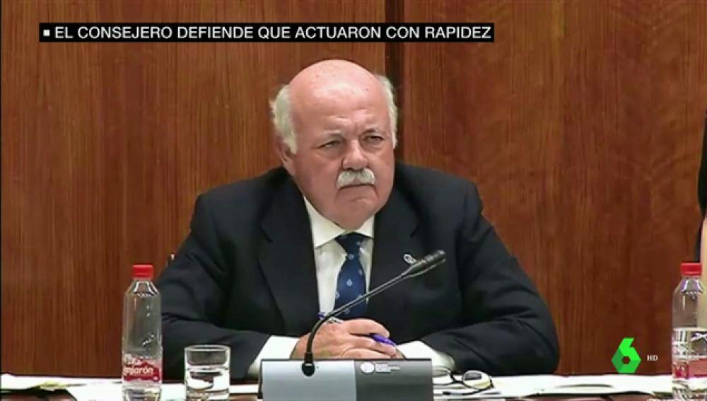 El consejero de Salud de Andalucía