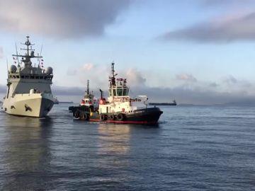 El Audaz llega a San Roque con los 15 migrantes del Open Arms