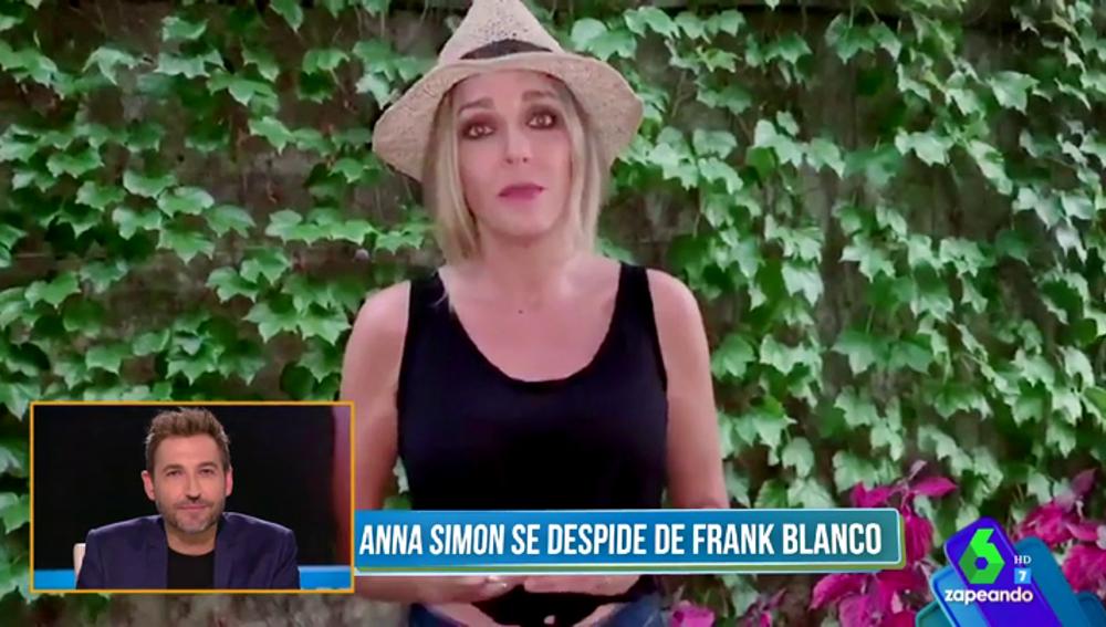 """La despedida de Anna Simon que emociona a Frank Blanco: """"Esto no es un adiós, es un hasta pronto. Te quiero amigo"""""""