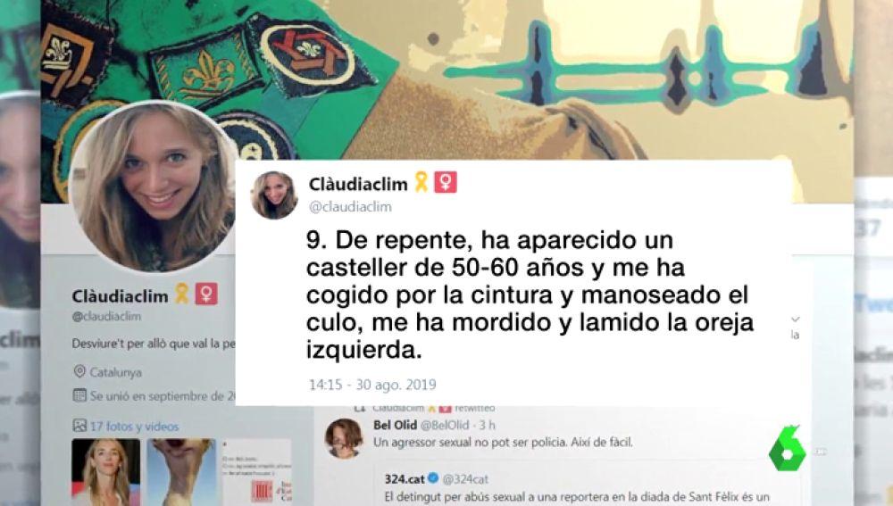 Libertad provisional para el mosso acusado de abusar sexualmente de una reportera que cubría el concurso de castells en Vilafranca del Penedès