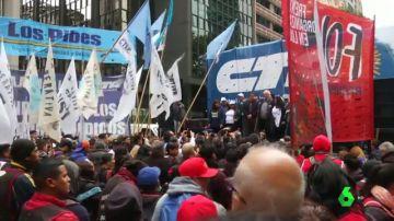 Protestas en Argentina por la caída del peso