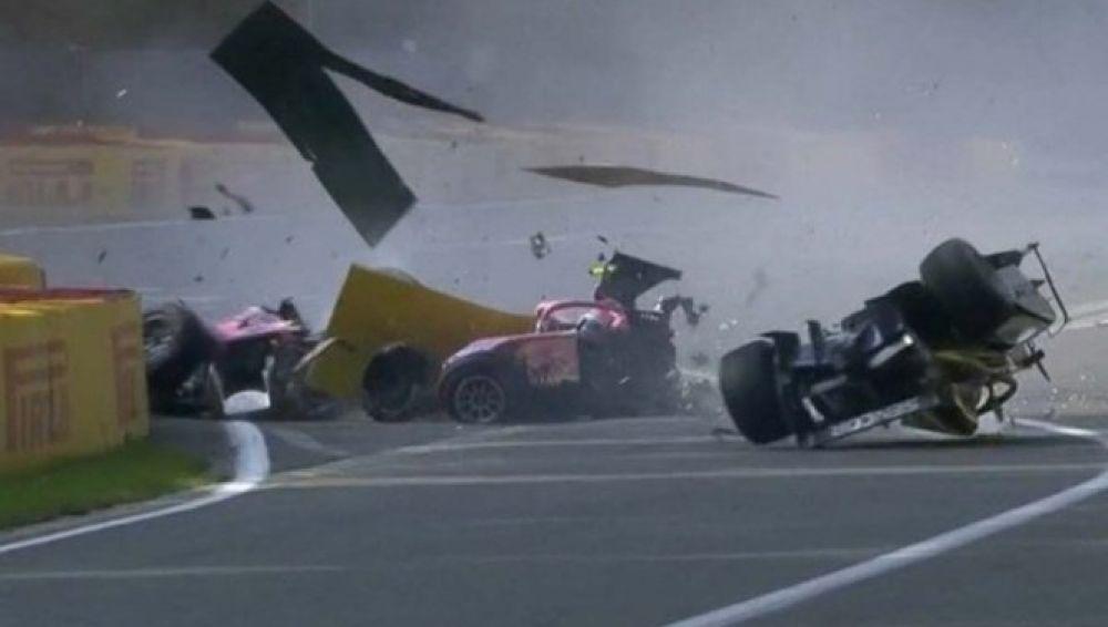 Brutal accidente en el GP de Bélgica