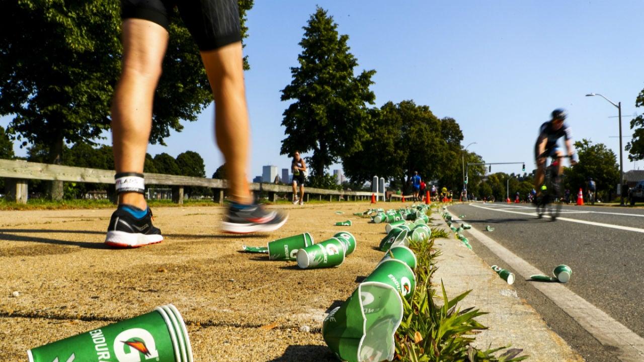 Foto de archivo de un triatlón