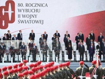 Imagen del acto para conmemorar el inicio de la II Guerra Mundial