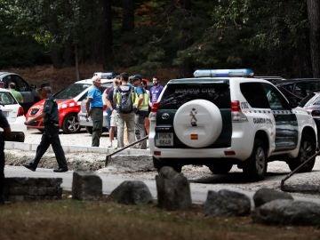 Vista del aparcamiento donde ha sido encontrado el coche de la exesquiadora olímpica Blanca Fernández Ochoa