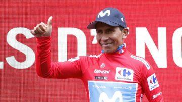Nairo Quintana, maillot rojo de la Vuelta