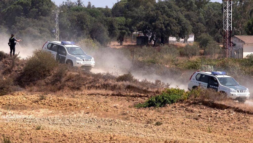 Imagen del lugar en el que la Guardia Civil ha detenido a un hombre atrincherado
