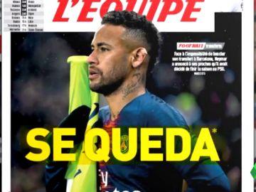 Neymar le comunica al PSG que se quedará en París al menos un año más, según 'L'Equipe'