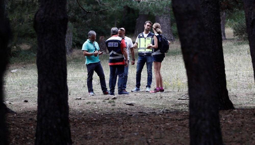Una de las batidas organizadas para encontrar a Fernández Ochoa