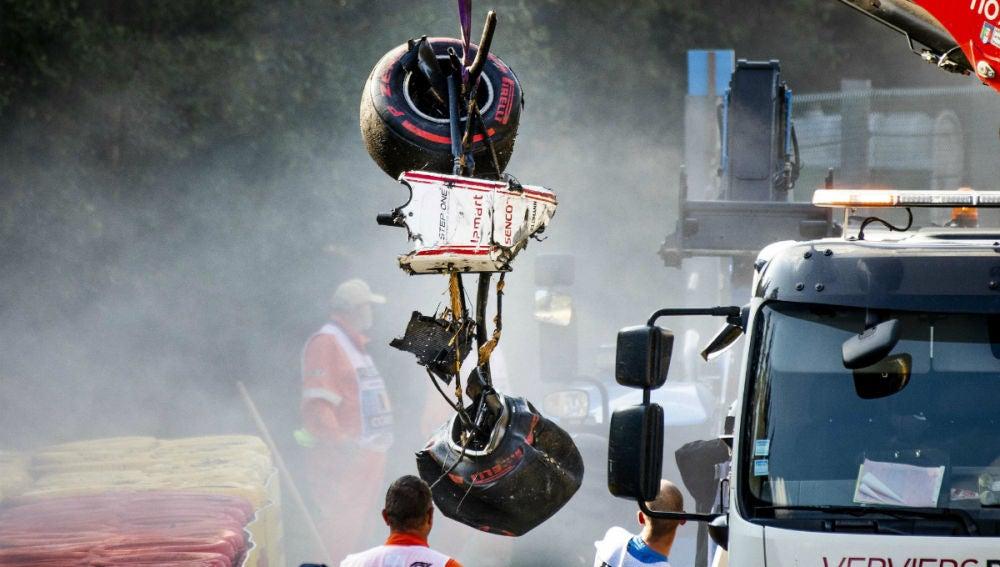 El accidente de F2 en el GP de Bélgica