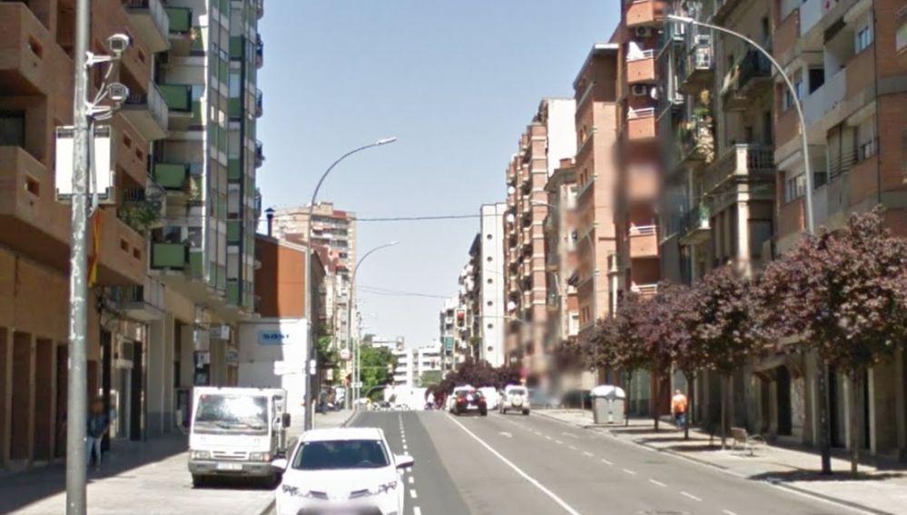 La calle en la que ocurrieron los hechos, en Lleida