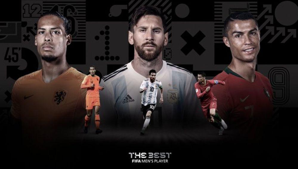 Van Dijk, Messi y Cristiano