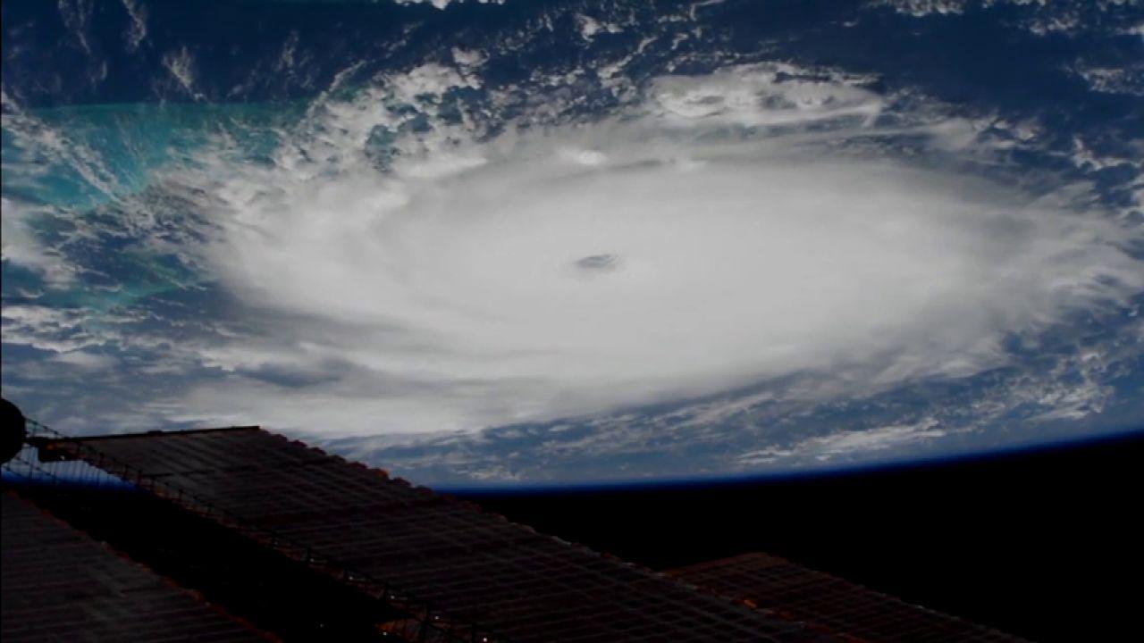 Las impresionantes imágenes del huracán Dorian desde el espacio