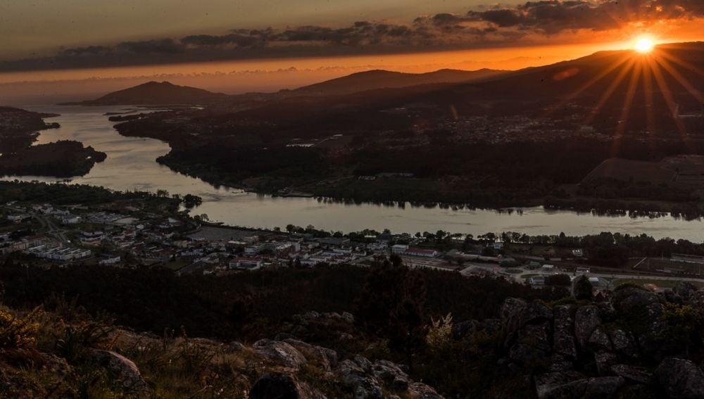 Vista de la desembocadura del río Miño