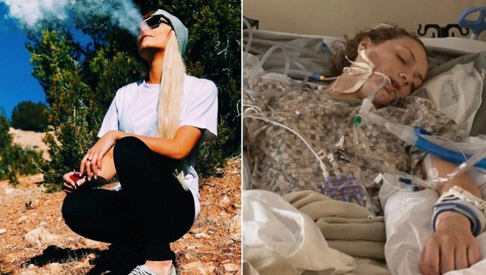 Imágenes de Maddie Nelson proporcionadas por su familia para recaudar fondos