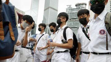 Huelga estudiantil el primer día de curso como apoyo a las protestas en Hong Kong