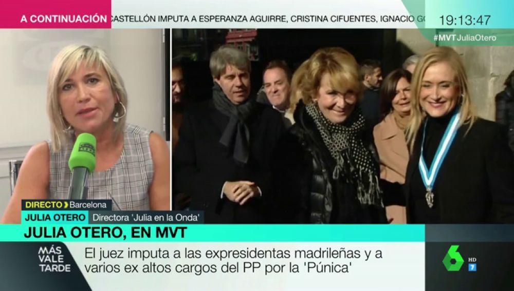 """Julia Otero, sobre la imputación de Aguirre y Cifuentes: """"Ayuso nada puede temer porque parece que tiene el apoyo incondicional de Ciudadanos"""""""
