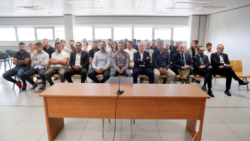 Los acusados del presunto amaño en el Levante-Zaragoza de 2011