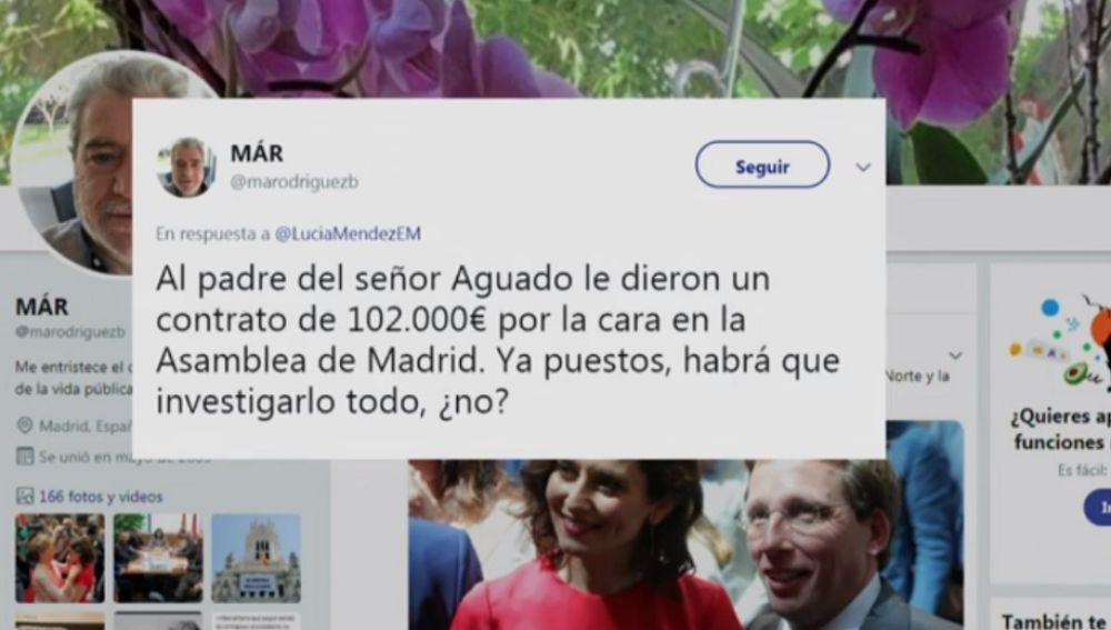 Imagen de un tuit de Miguel Ángel Rodríguez Bajón