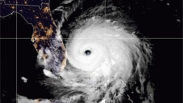 El 'ojo' del huracán Dorian