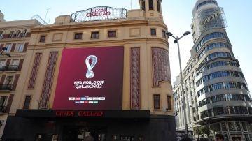 El logo del Mundial de Catar 2022, en Callao
