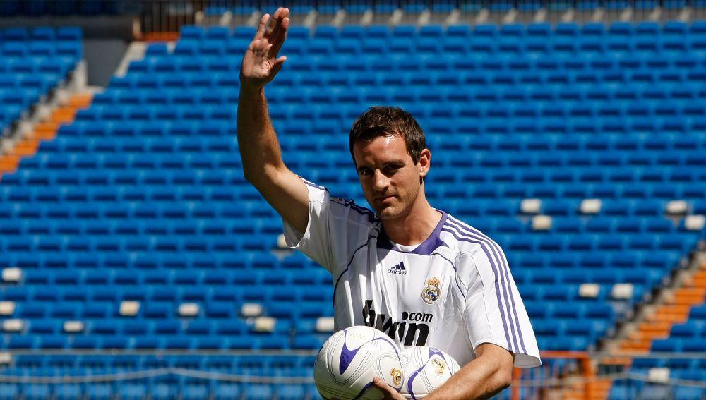 Christoph Metzelder, en su presentación con el Real Madrid