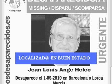 Localizan en buen estado al anciano con alzhéimer desaparecido mientras viajaba de Barcelona  a Lorca