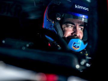 Fernando Alonso, a los mandos del Toyota