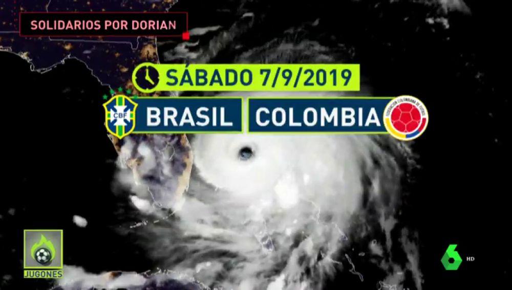 Huracán Dorian: reparten entradas del Brasil vs Colombia para quien deje víveres para ayudar a los afectados