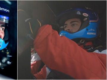 Fernando Alonso, durante su test en Polonia